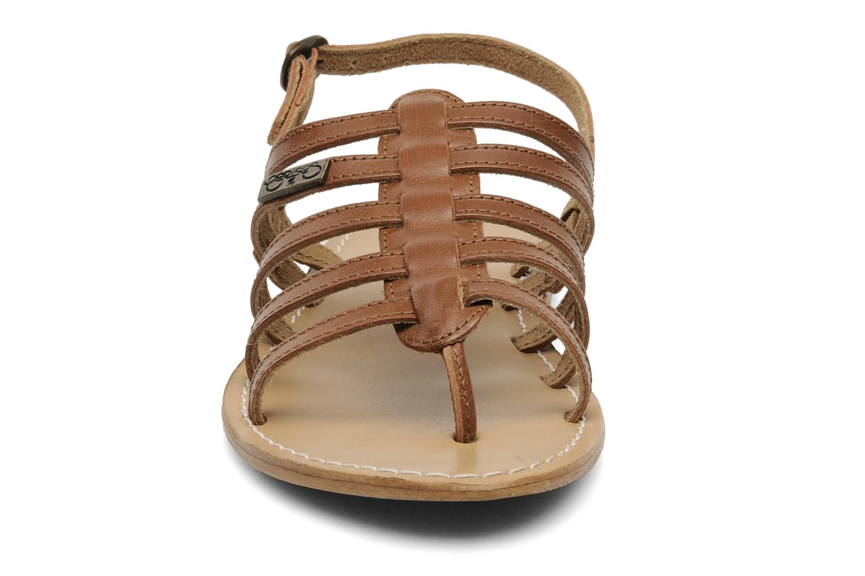 Sandales et nu-pieds Le temps des cerises Ilona Marron vue portées chaussures