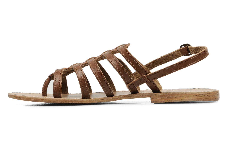 Sandales et nu-pieds Le temps des cerises Ilona Marron vue face