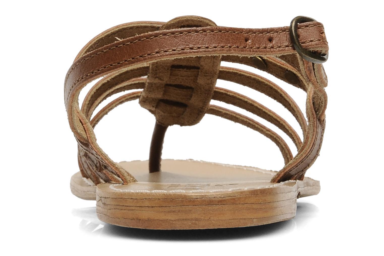 Sandales et nu-pieds Le temps des cerises Ilona Marron vue droite