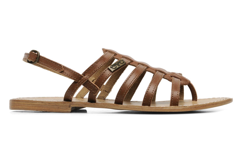 Sandales et nu-pieds Le temps des cerises Ilona Marron vue derrière