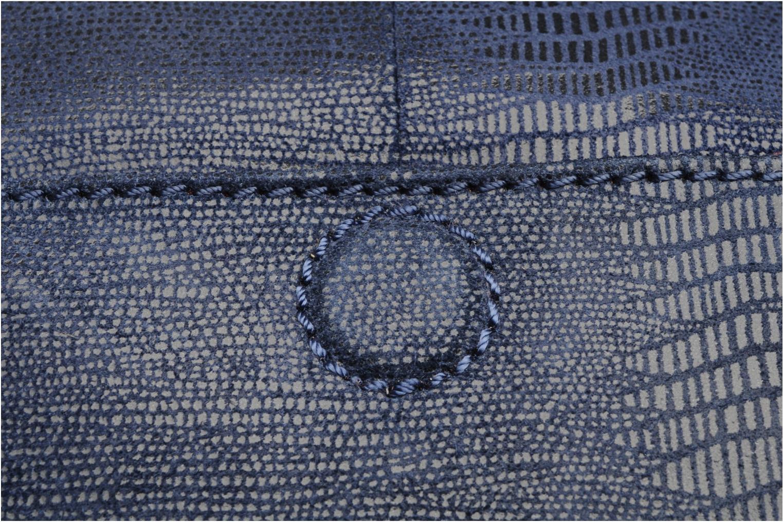 Pochette Lana Snake print Dark blue