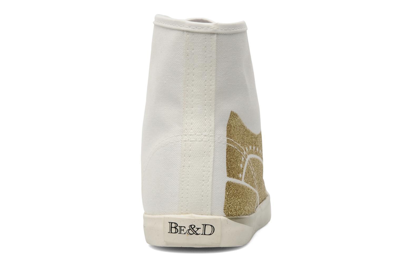Baskets Be&D Wingtip Blanc vue droite