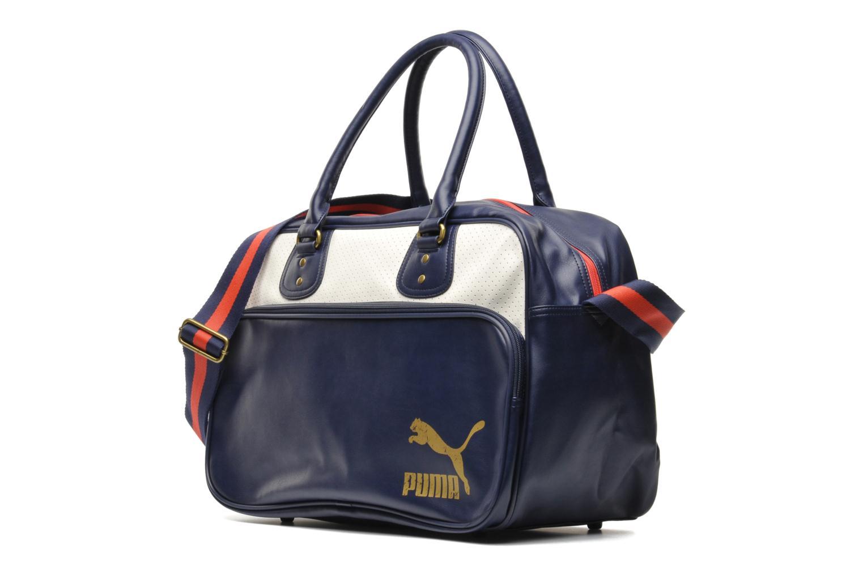 Sacs de sport Puma Originals Grip bag Bleu vue portées chaussures