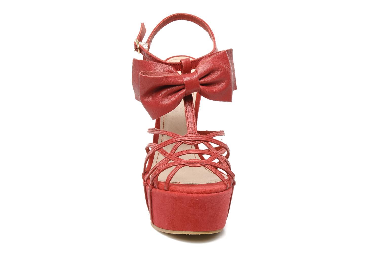 Sandales et nu-pieds Supertrash Bowstrap Rose vue portées chaussures