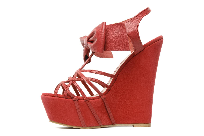Sandales et nu-pieds Supertrash Bowstrap Rose vue face