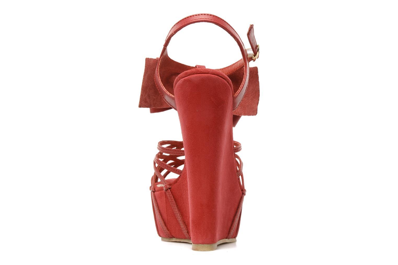 Sandales et nu-pieds Supertrash Bowstrap Rose vue droite