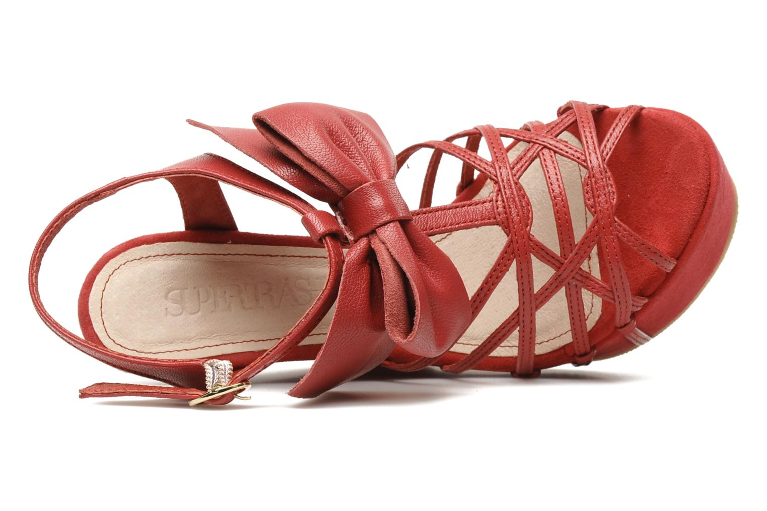 Sandals Supertrash Bowstrap Pink view from the left