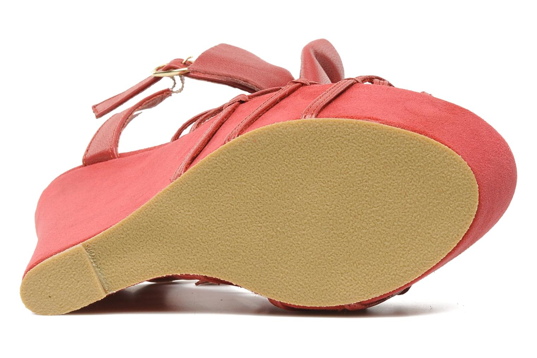 Sandales et nu-pieds Supertrash Bowstrap Rose vue haut