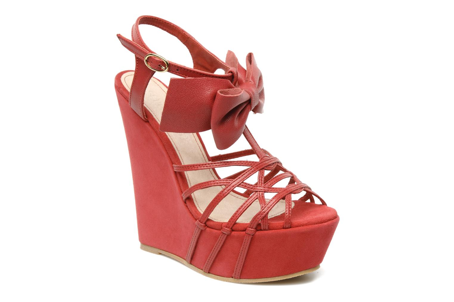 Sandals Supertrash Bowstrap Pink detailed view/ Pair view
