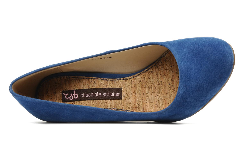 Pumps Chocolate Schubar Courtney blau ansicht von links