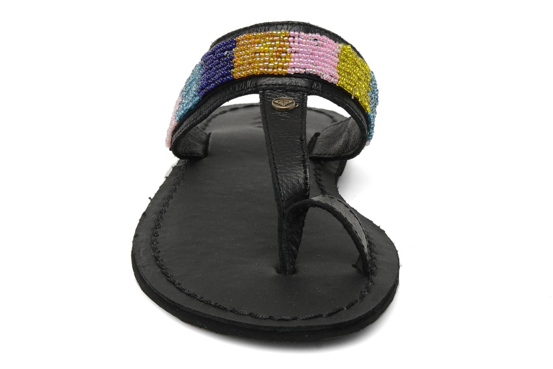 Clogs & Pantoletten Roxy Mumbai schwarz schuhe getragen