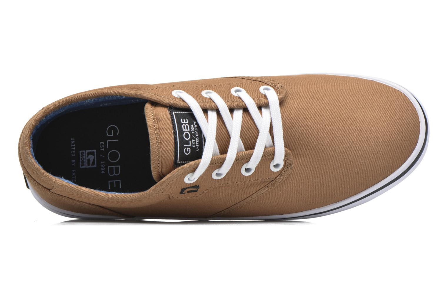 Sport shoes Globe Motley Brown view from the left