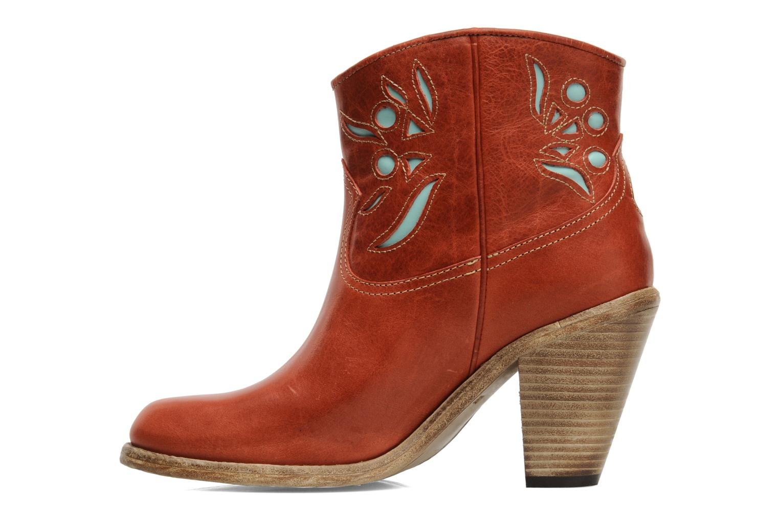 Ankle boots Swildens Izie Brown front view