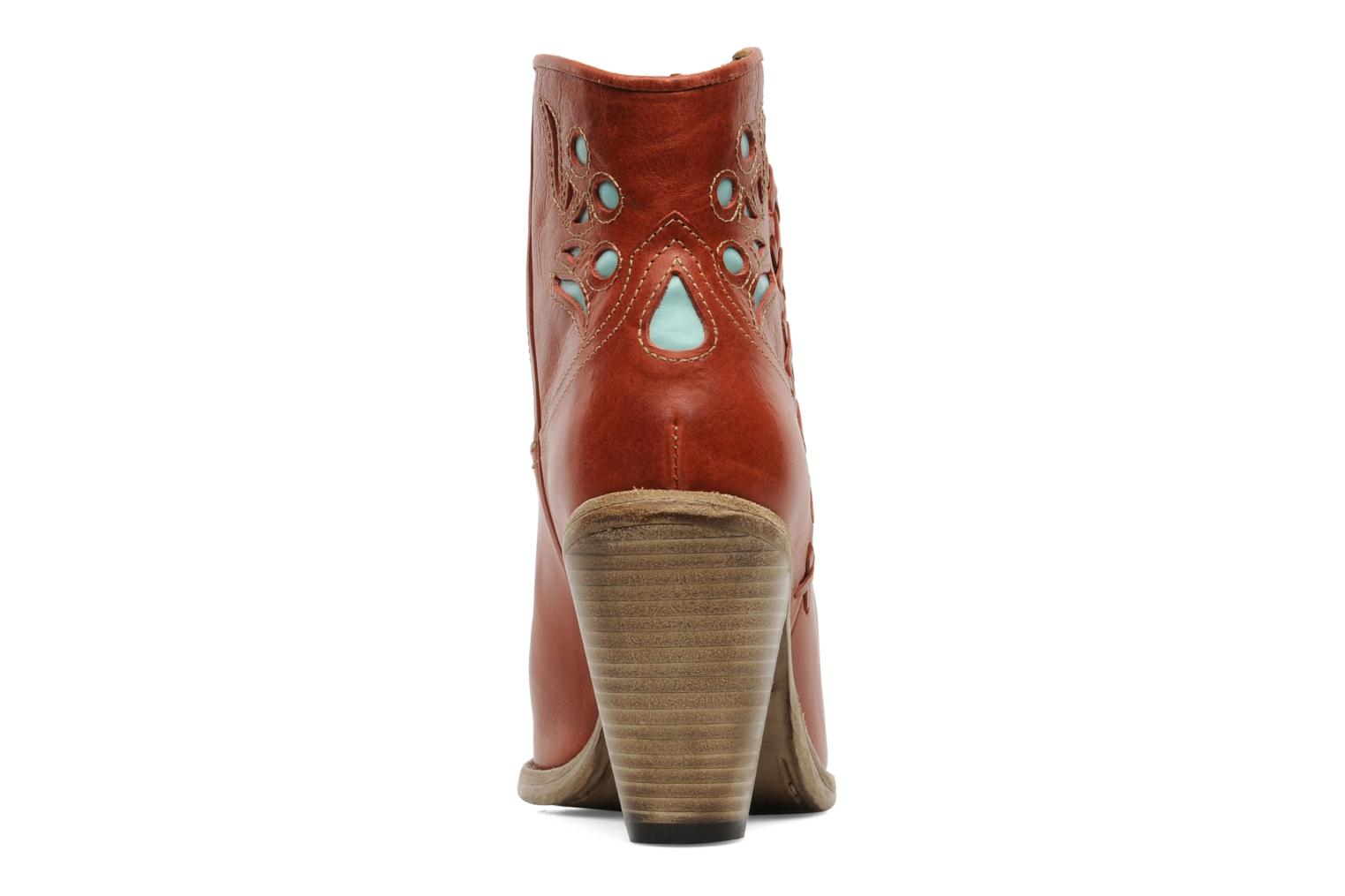 Ankle boots Swildens Izie Brown view from the right