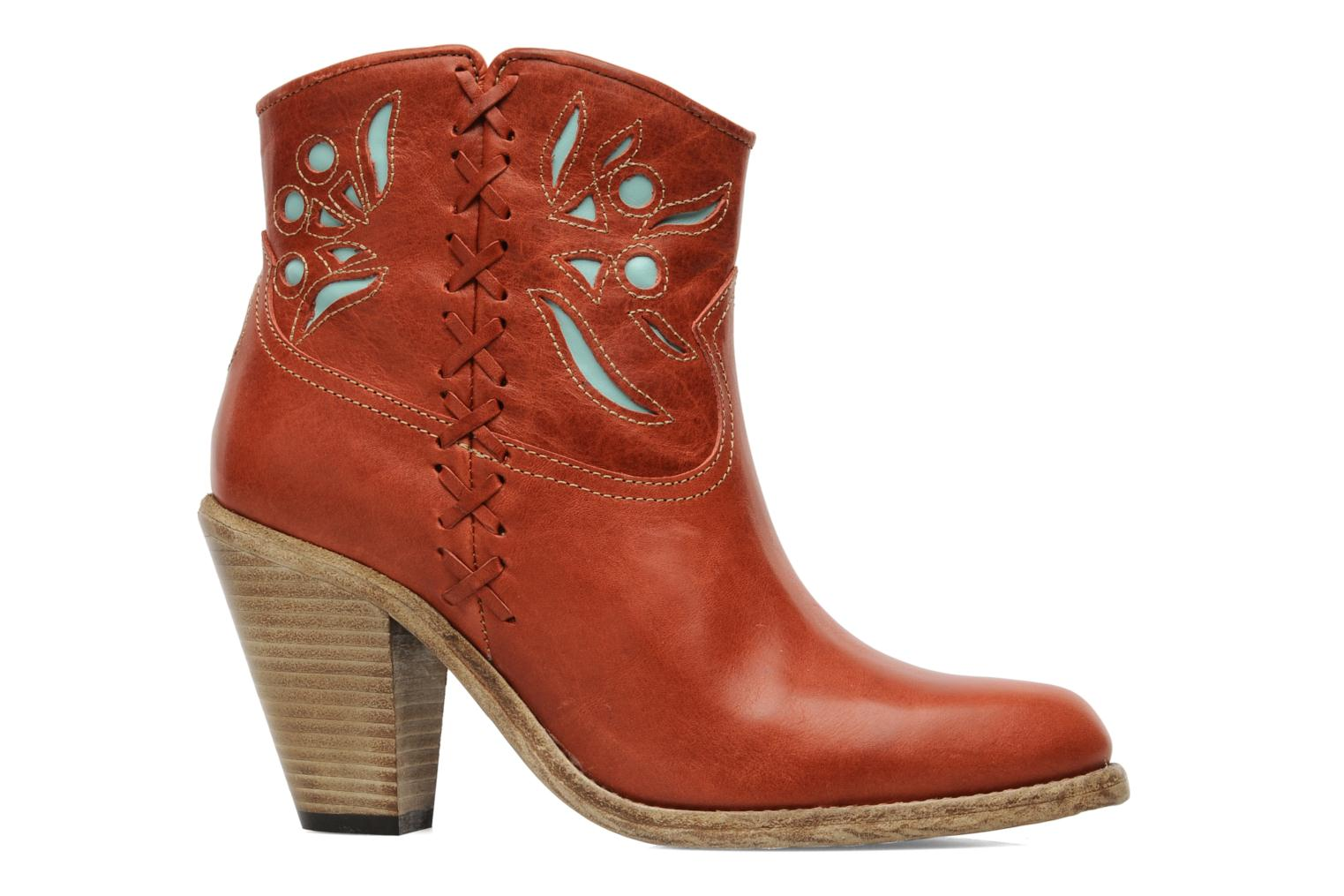 Ankle boots Swildens Izie Brown back view