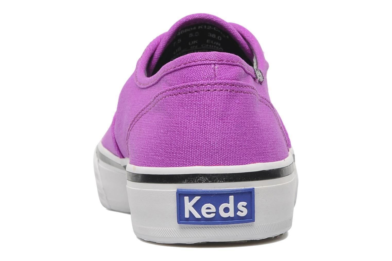 Sneakers Keds Double Dutch Neon Lila Bild från höger sidan