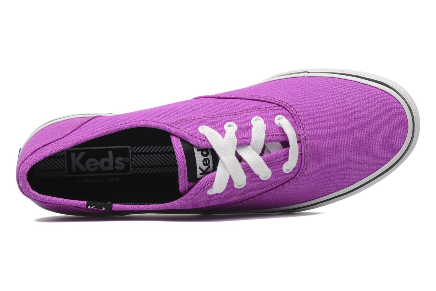 Sneaker Keds Double Dutch Neon lila ansicht von links