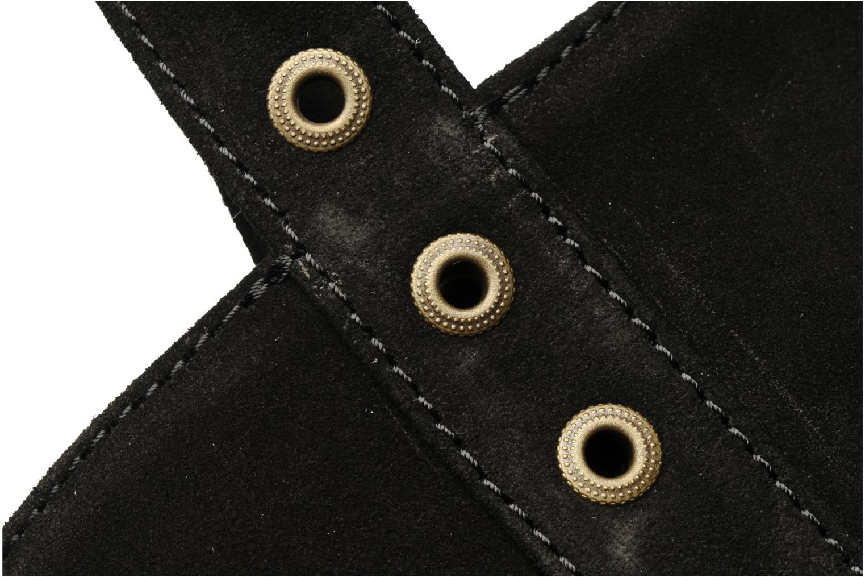 Cabas cuir velours œillets L Noir