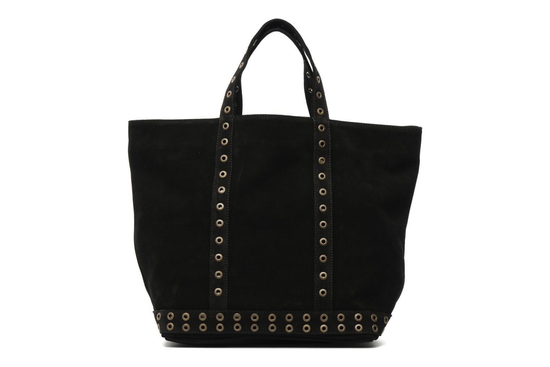Handbags Vanessa Bruno Cabas cuir velours œillets L Black detailed view/ Pair view