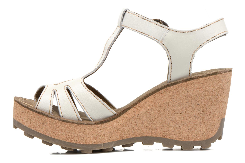 Sandales et nu-pieds Fly London Gold Blanc vue face