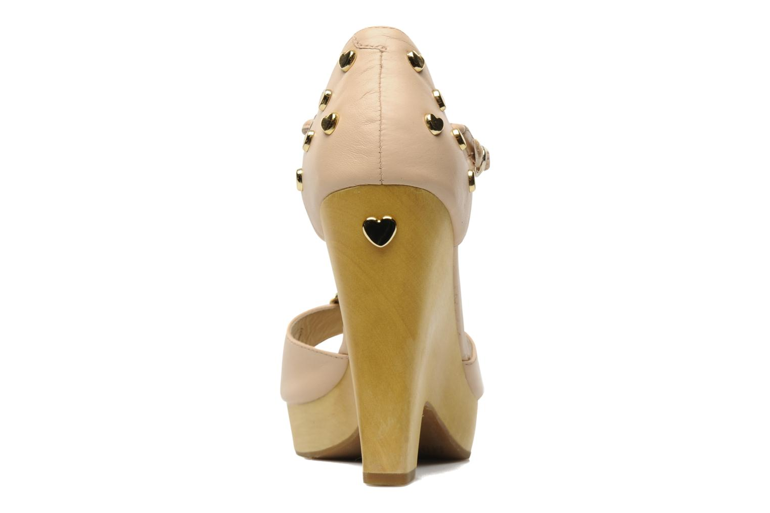 Sandales et nu-pieds Love Moschino Love Cipria Rose vue droite