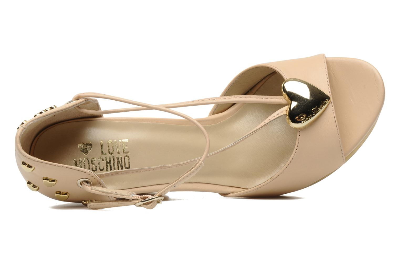 Sandales et nu-pieds Love Moschino Love Cipria Rose vue gauche