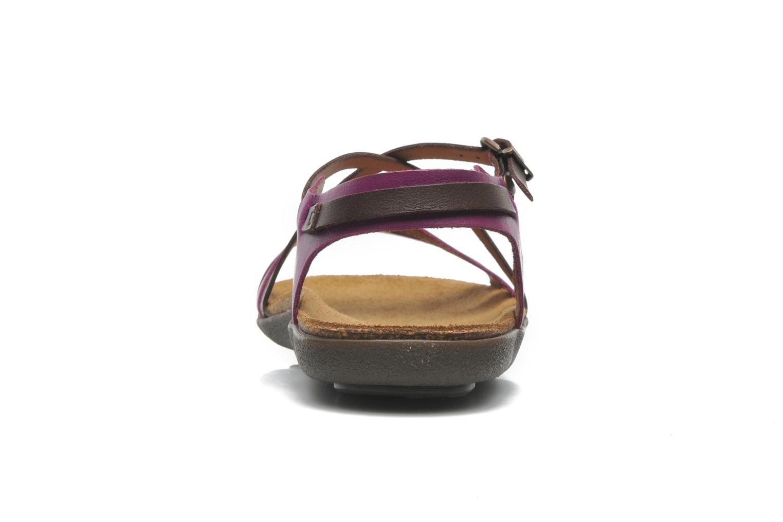 Sandalen Kickers Atomium lila ansicht von rechts