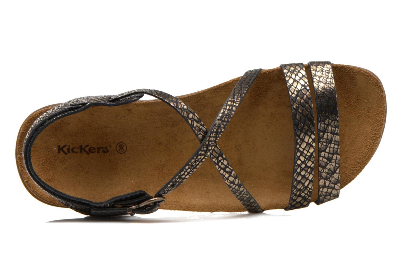 Sandales et nu-pieds Kickers Atomium Or et bronze vue gauche