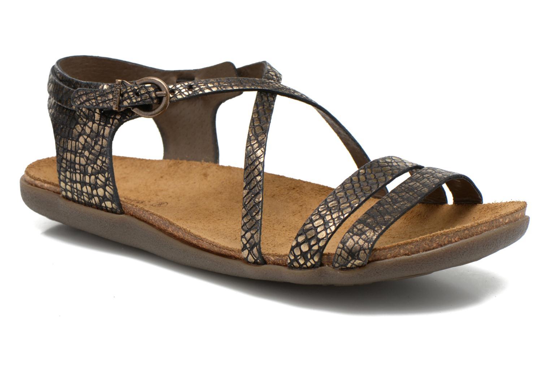 Sandales et nu-pieds Kickers Atomium Or et bronze vue détail/paire