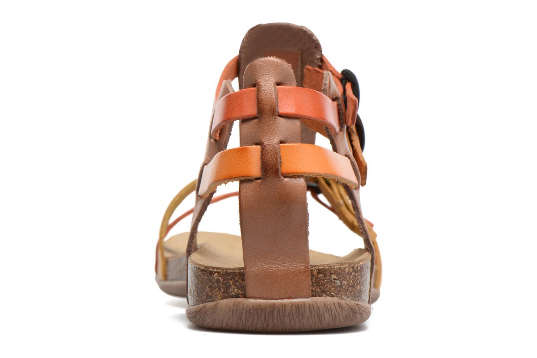 Sandales et nu-pieds Kickers Ana Marron vue droite