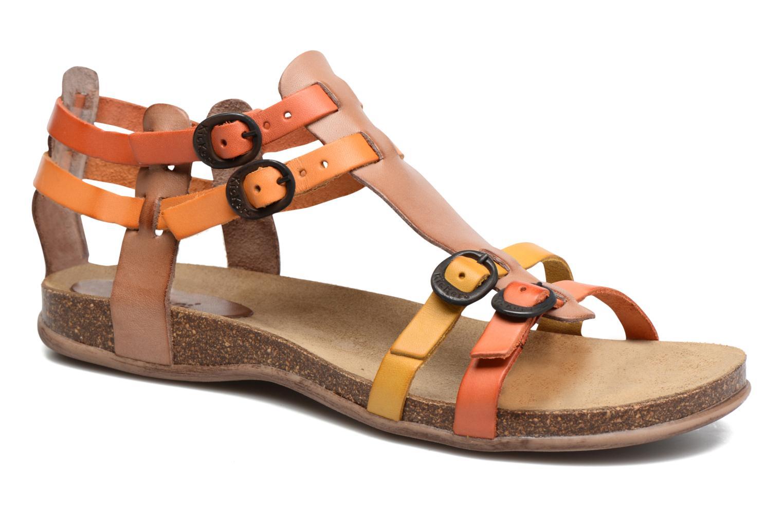 Sandales et nu-pieds Kickers Ana Marron vue détail/paire