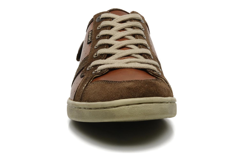 Baskets Kickers PHANTOM Marron vue portées chaussures
