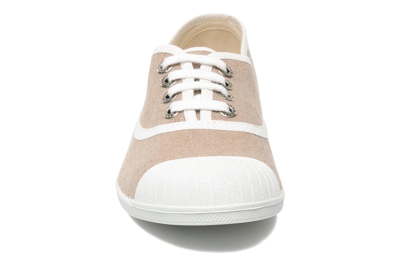 Baskets Kickers ZENLACE Beige vue portées chaussures