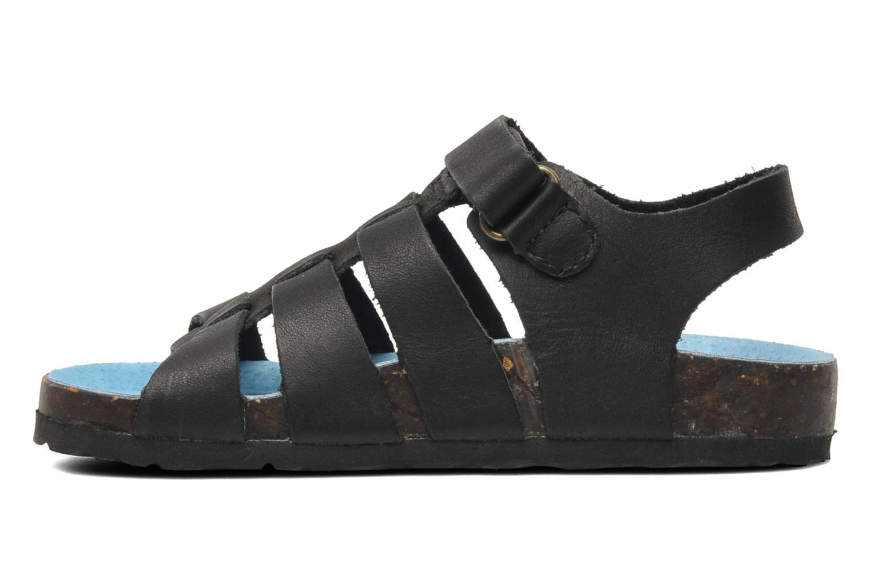 Sandalen Kickers MAGINO schwarz ansicht von vorne