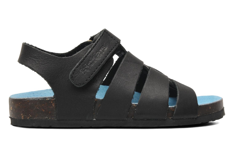 Sandalen Kickers MAGINO schwarz ansicht von hinten