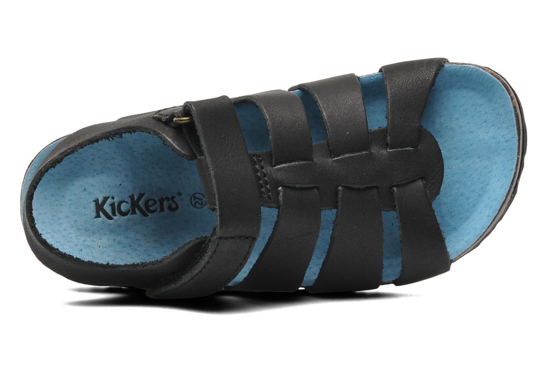 Sandalen Kickers MAGINO schwarz ansicht von links