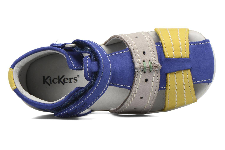 Sandalen Kickers BIGBAZAR blau ansicht von links