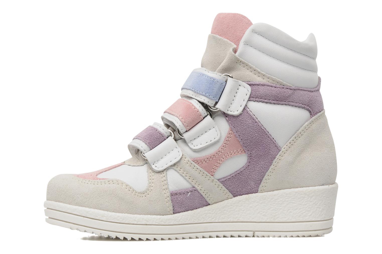 Sneaker Ninette en fleurs 7010 weiß ansicht von vorne