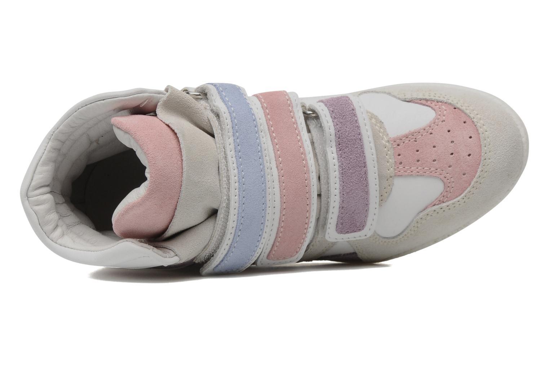 Sneaker Ninette en fleurs 7010 weiß ansicht von links