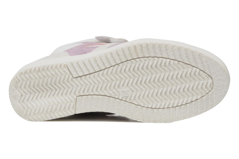 Sneaker Ninette en fleurs 7010 weiß ansicht von oben