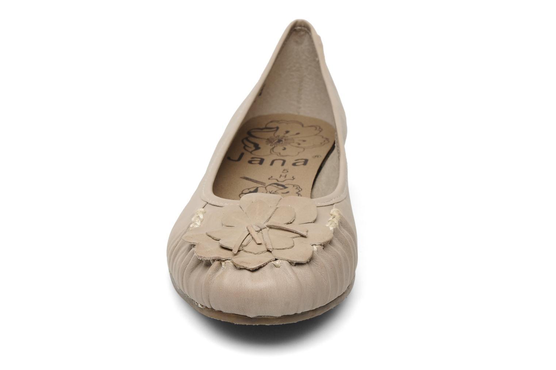 Ballerines Jana shoes LEMANE Beige vue portées chaussures