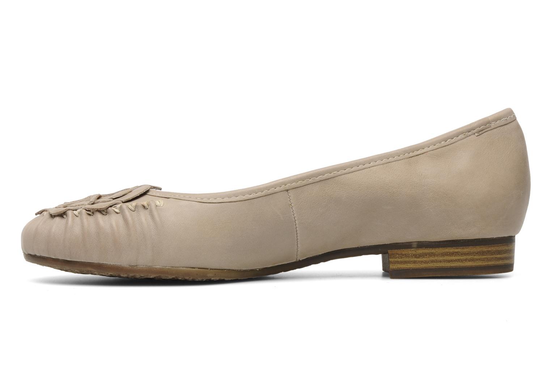 Ballerines Jana shoes LEMANE Beige vue face