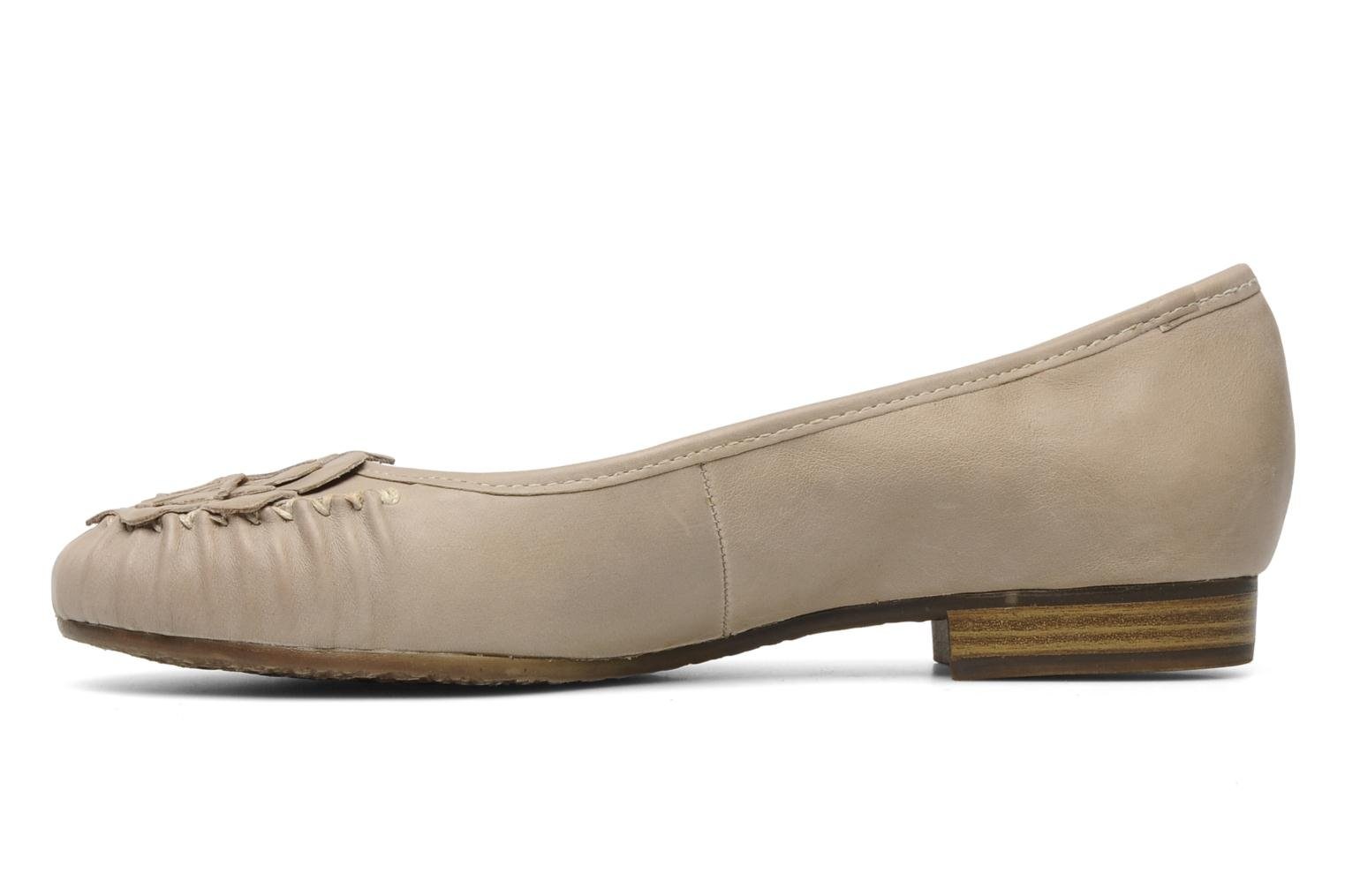 Ballerines Jana shoes LEMANE Beige vue face
