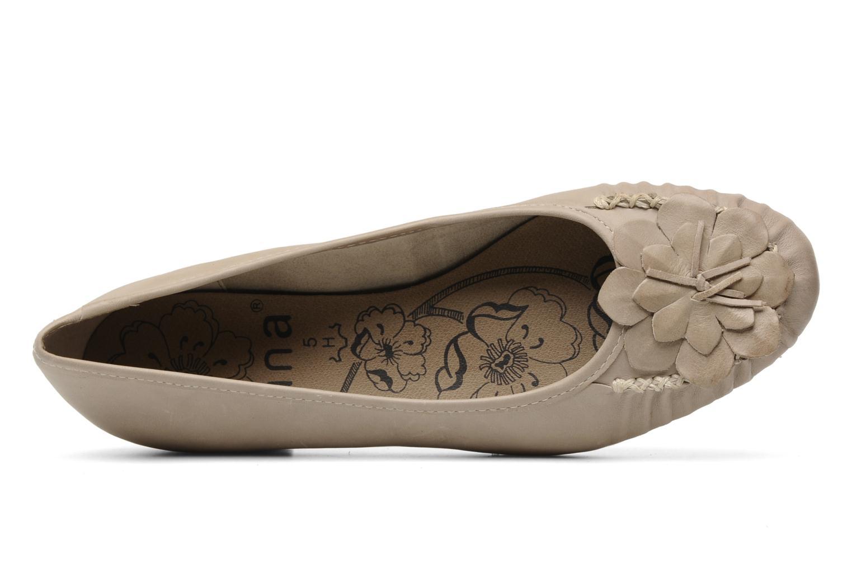 Ballerines Jana shoes LEMANE Beige vue gauche