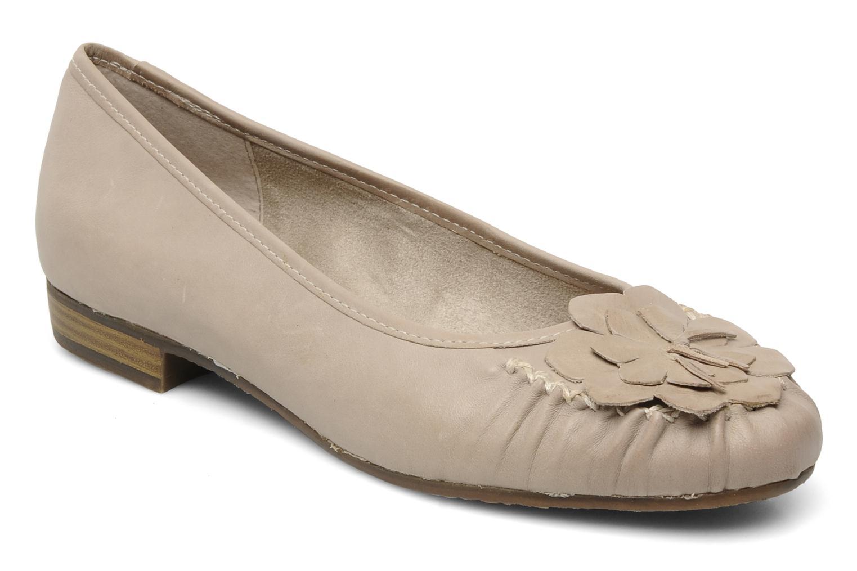 Ballerines Jana shoes LEMANE Beige vue détail/paire