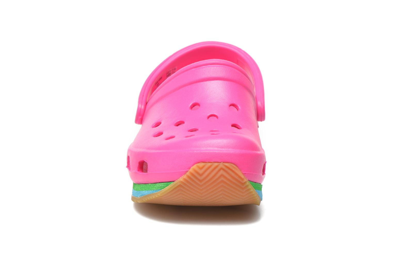 Sandalen Crocs Cros Retro Clog Kids rosa schuhe getragen