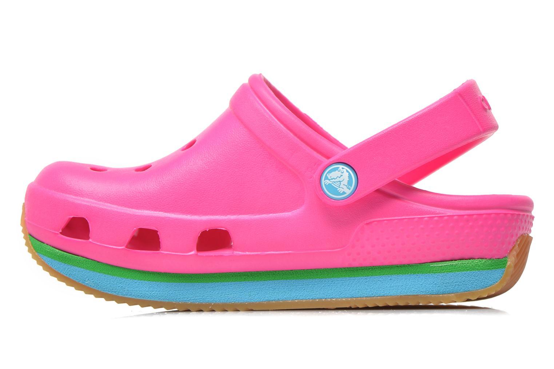 Sandales et nu-pieds Crocs Cros Retro Clog Kids Rose vue face