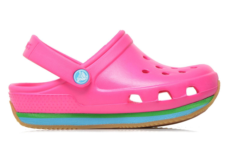 Sandales et nu-pieds Crocs Cros Retro Clog Kids Rose vue derrière