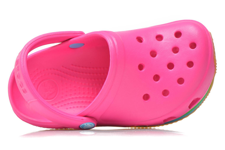 Sandalen Crocs Cros Retro Clog Kids rosa ansicht von links