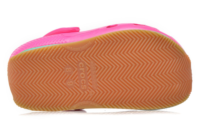 Sandales et nu-pieds Crocs Cros Retro Clog Kids Rose vue haut